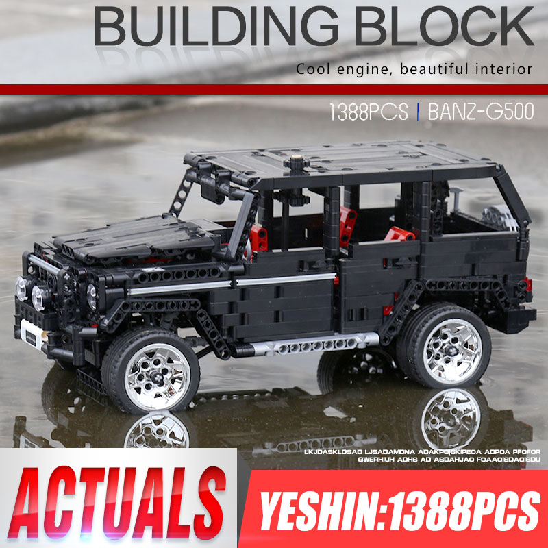 Yeshin 701960 Off road SUV Car Compatible with G500 Car Model Building Blocks Bricks Assembly Kits