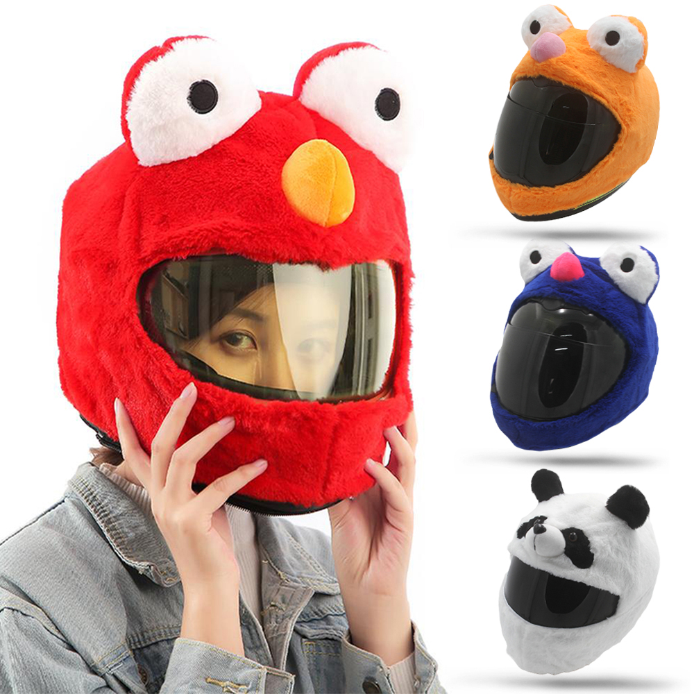 Motorcycle Panda Animal Cover helmet Motorbike funny heeds crazy case cap crash Orange red green bule For Outdoor Personalized