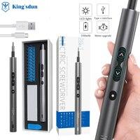 Minidestornillador eléctrico portátil con carga USB, destornillador eléctrico inalámbrico, taladro magnético, juego de reparación