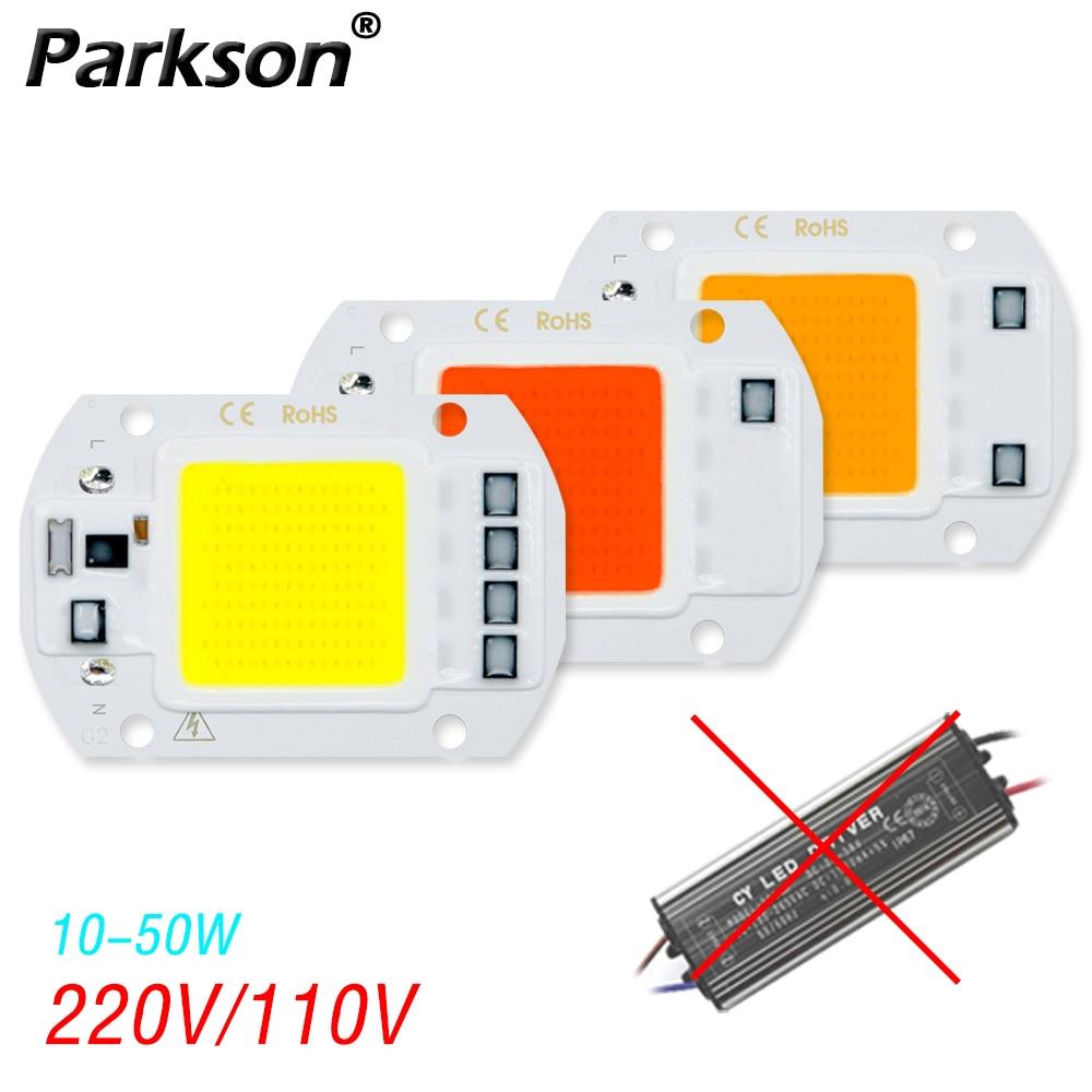 Cob LED Chip 220V 110V  50W 30W 20W 10W Projector LED Lamp No Need Driver Smar IC For Houseplants Matrix Floodlight Spot Light