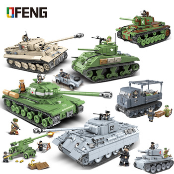 Military Panther Tank Building Blocks Technic City WW2 Tank Soldier Weapon Army Buidling Kits Bricks Toys for Children Gifts 524 pcs military technic tank building blocks toys weapon figures ww2 army soldier creator toy educational bricks for children