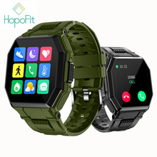 Hopofitスマート腕時計腕時計メンズ女性bluetooth通話フィットネス圧力S9スマートウォッチアンドロイド活動トラッカーロングバッテリ寿命