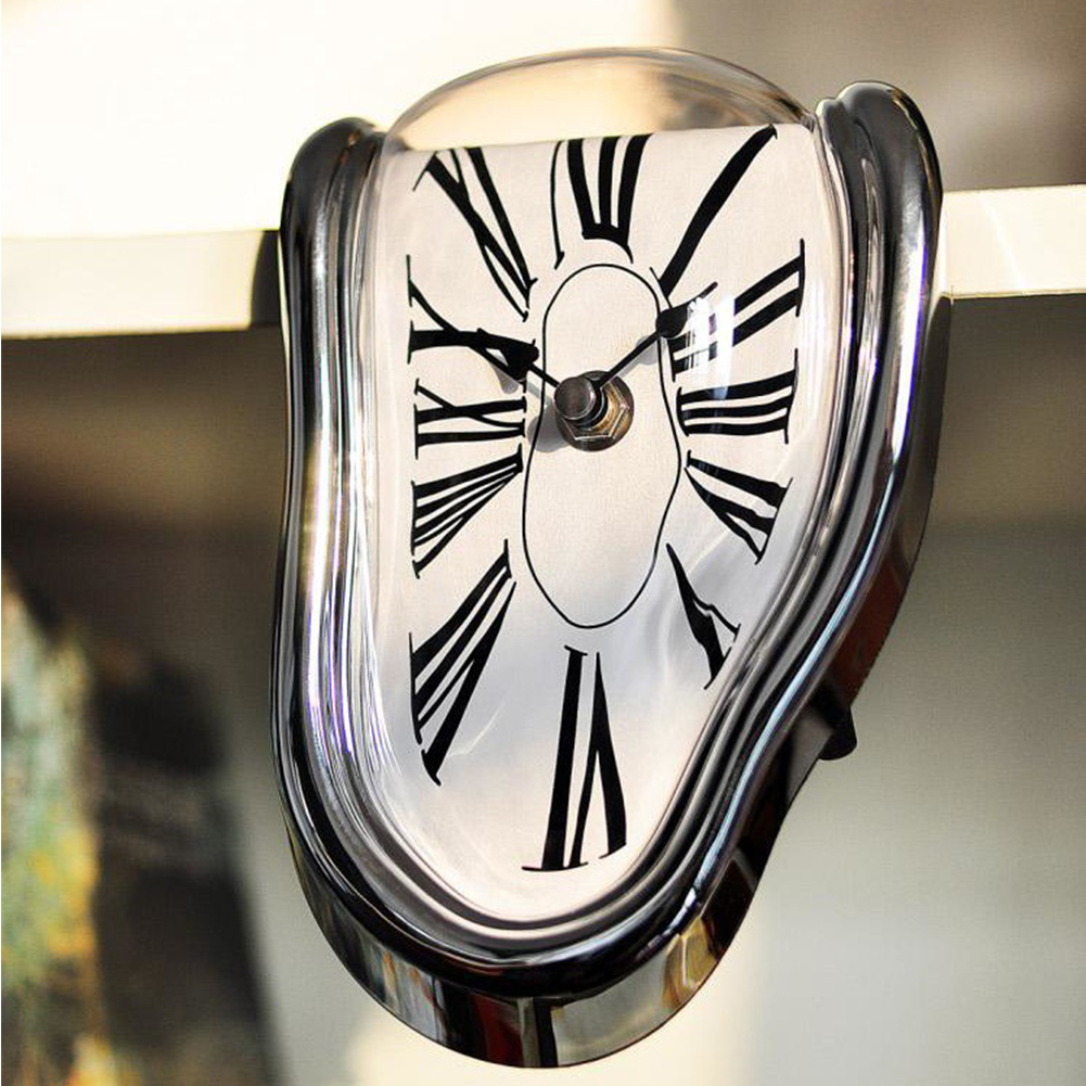 Twisted Roman numeral clock Surreal Melting Distorted Wall Clock Home Decoration Surrealist Salvador Dali Style Wall Clock|Wall Clocks|   - title=