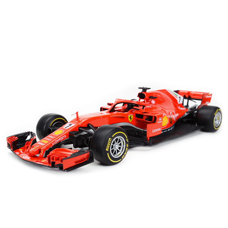 Bburago 1:18 <font><b>2018</b></font> SF71H <font><b>F1</b></font> Racing #7 #05 Formula Car Static Simulation Diecast Alloy Model Car image