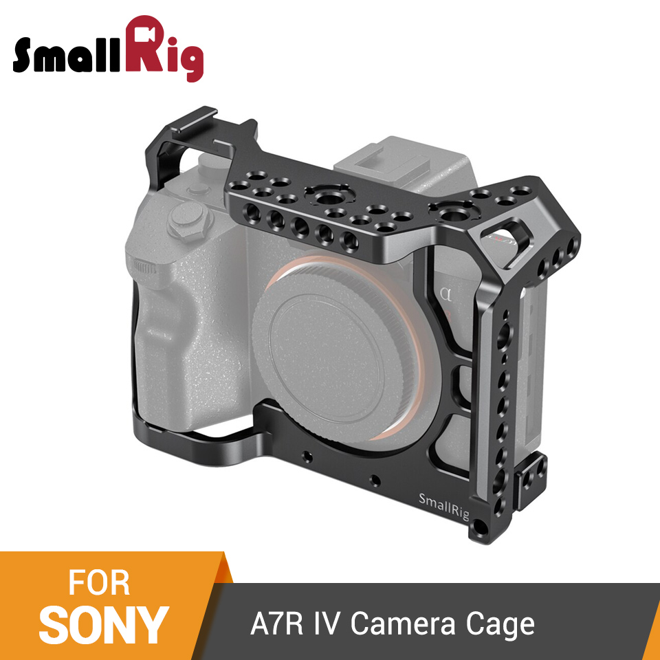 Jaula para conexión de cámara SmallRig A7R IV para Sony A7R IV Dslr Cage con soporte de zapata fría y carril NATO-2416