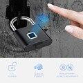 Золотой безопасности Keyless USB Перезаряжаемый дверной замок отпечатков пальцев умный замок Быстрый разблокировка цинковый сплав металлическ...