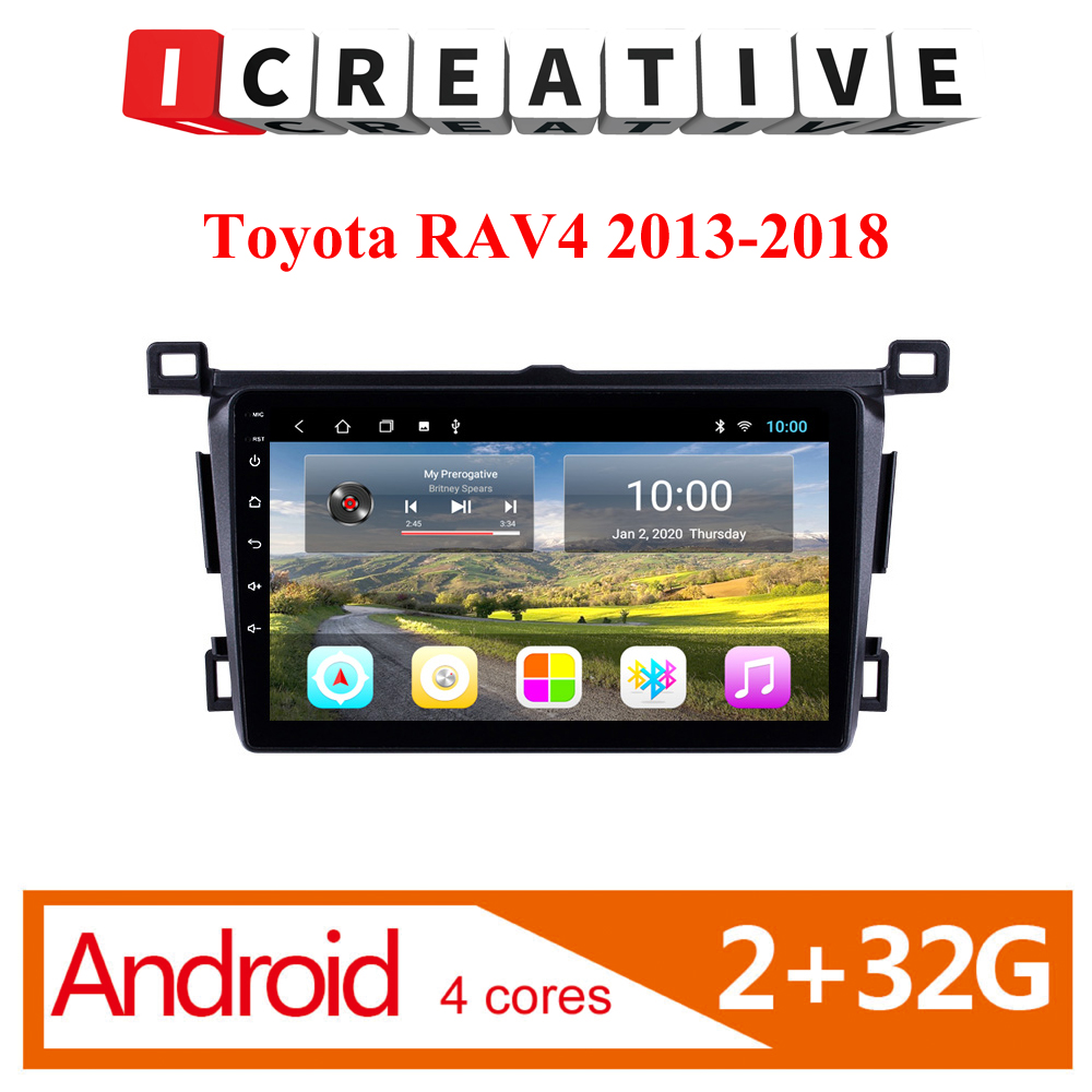 2 Din Android Car Multimedia player for <font><b>Toyota</b></font> <font><b>RAV4</b></font> <font><b>Rav</b></font> <font><b>4</b></font> 2013 <font><b>2014</b></font> <font><b>2015</b></font> <font><b>2016</b></font> <font><b>2017</b></font> 2018 Android Car Stereo GPS Navigation SWC image