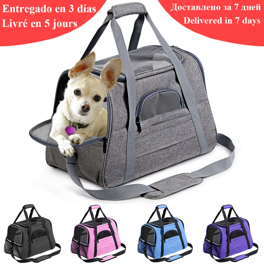 Dog-Carrier-Bags Airline Pet-Cat-Dog-Backpack Cats Approved Small Dog Portable