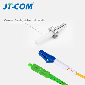 Image 2 - Free shipping!10Pcs SC LC 3M Simplex Single Mode Fiber Optic Patch Cord SC/APC LC/UPC 3M 2.0mm 3.0mm FTTH Fiber Patch Cable