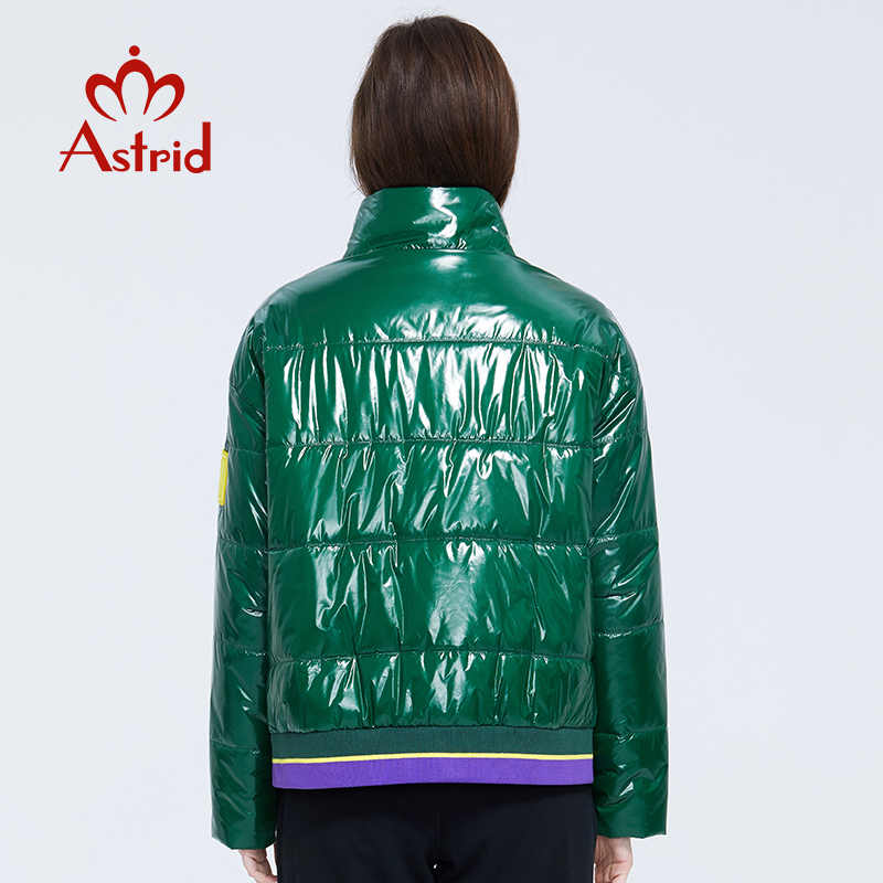 Astrid 2020 primavera feminina parka casaco quente jaqueta feminina fina algodão cores brilhantes casaco curto solto gola de pé ZM-3073