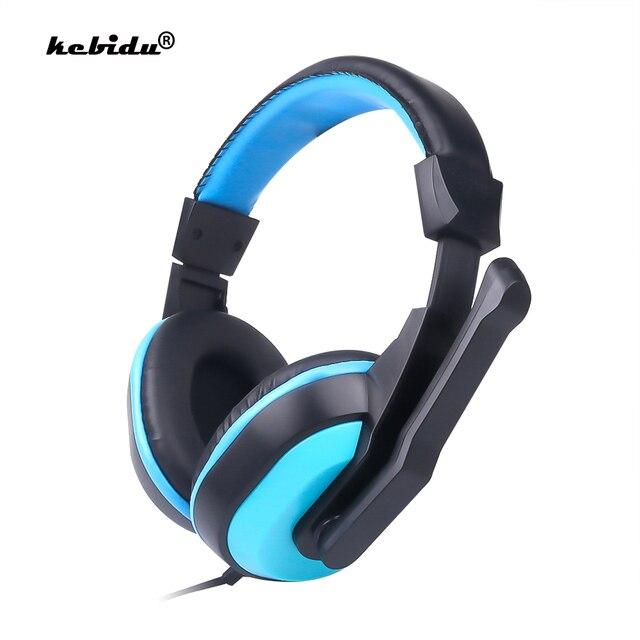 Kebidu yüksek performanslı ayarlanabilir oyun oyun kulaklıkları 3.5mm gürültü önleyici bilgisayar PC oyuncular için mikrofonlu kulaklık