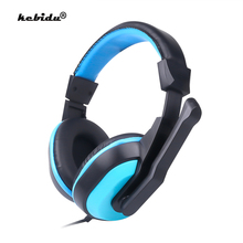 kebidu High Performance Adjustable Game Gaming Headphones 3.5mm Noise canceling Computer PC Gamers Headset With Mic