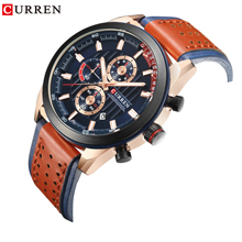 CURREN Men Watch Chronograph Wrist Calendar Quartz Male Dial Clock Top Brand Luxury Wristwatch for