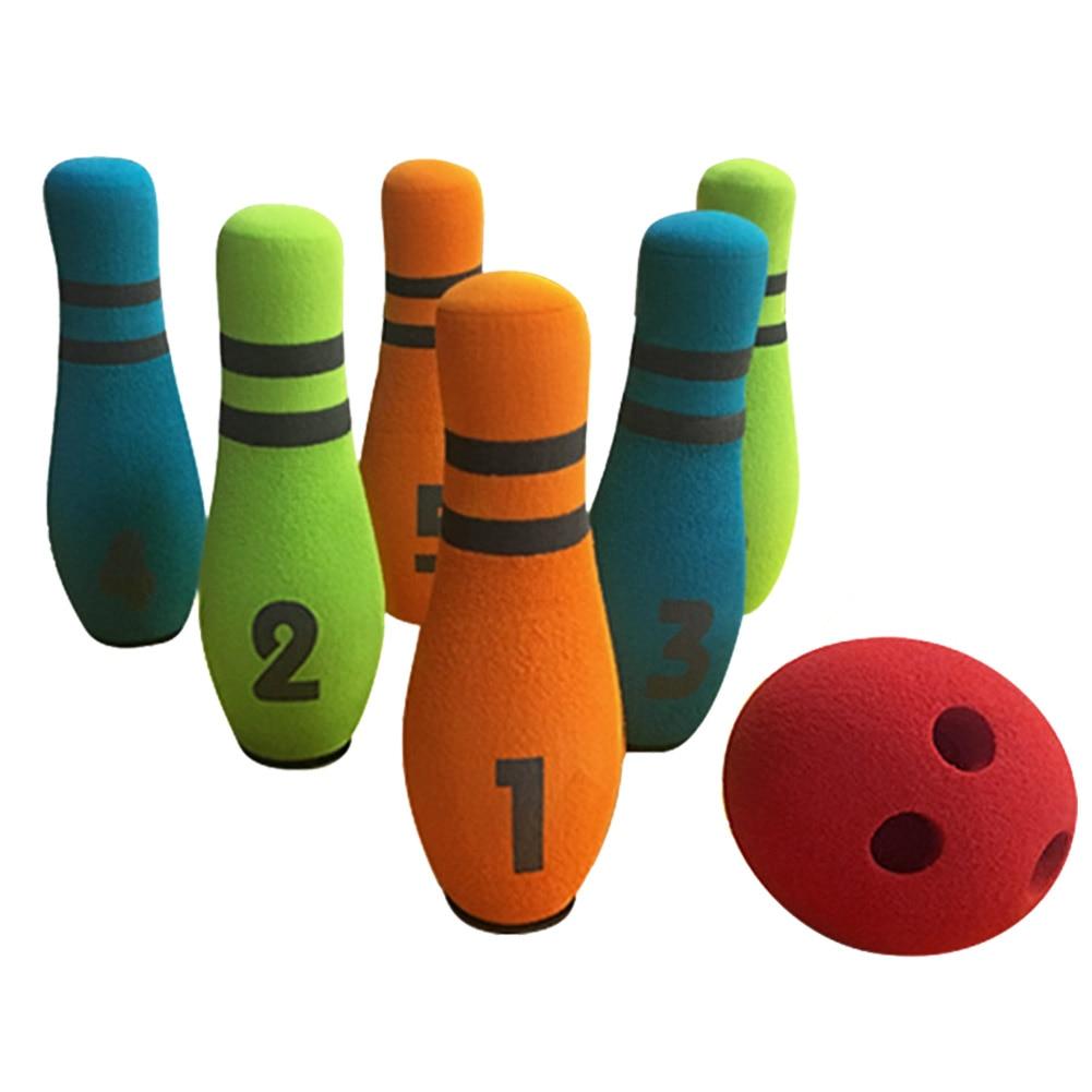 Ultimate SaleúToy Bowling-Set Funny Garden Six-Pin Entertainment Coordination Preschool Gift Hand-EyeÞ
