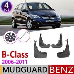 Samochód błotnik dla Mercedes Benz B Class klasy B W245 2006 ~ 2011 Fender Osłona przeciwbłotna klapy błotniki akcesoria 2007 2008 2009 2010 w Naklejki samochodowe od Samochody i motocykle na