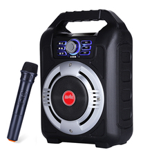 5.25 inch Portable Outdoor Speaker Big Power Bluetooth Speakers Audio Party DJ Music Player Support FM Radio TF Card U Disk