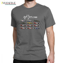 Mans All The Cars Ayton Senna Formula 1 Racing Car F1 T-Shirt Crew Neck Short Sleeve Tops Pure Cotton Tee Shirt Summer T Shirts