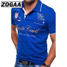 Men's Short Sleeve Polo Shirt Fashion Letter Printing Casual Polo Shirts for Men Polos Men Clothes 2019 Men Polo Shirt ZOGAA