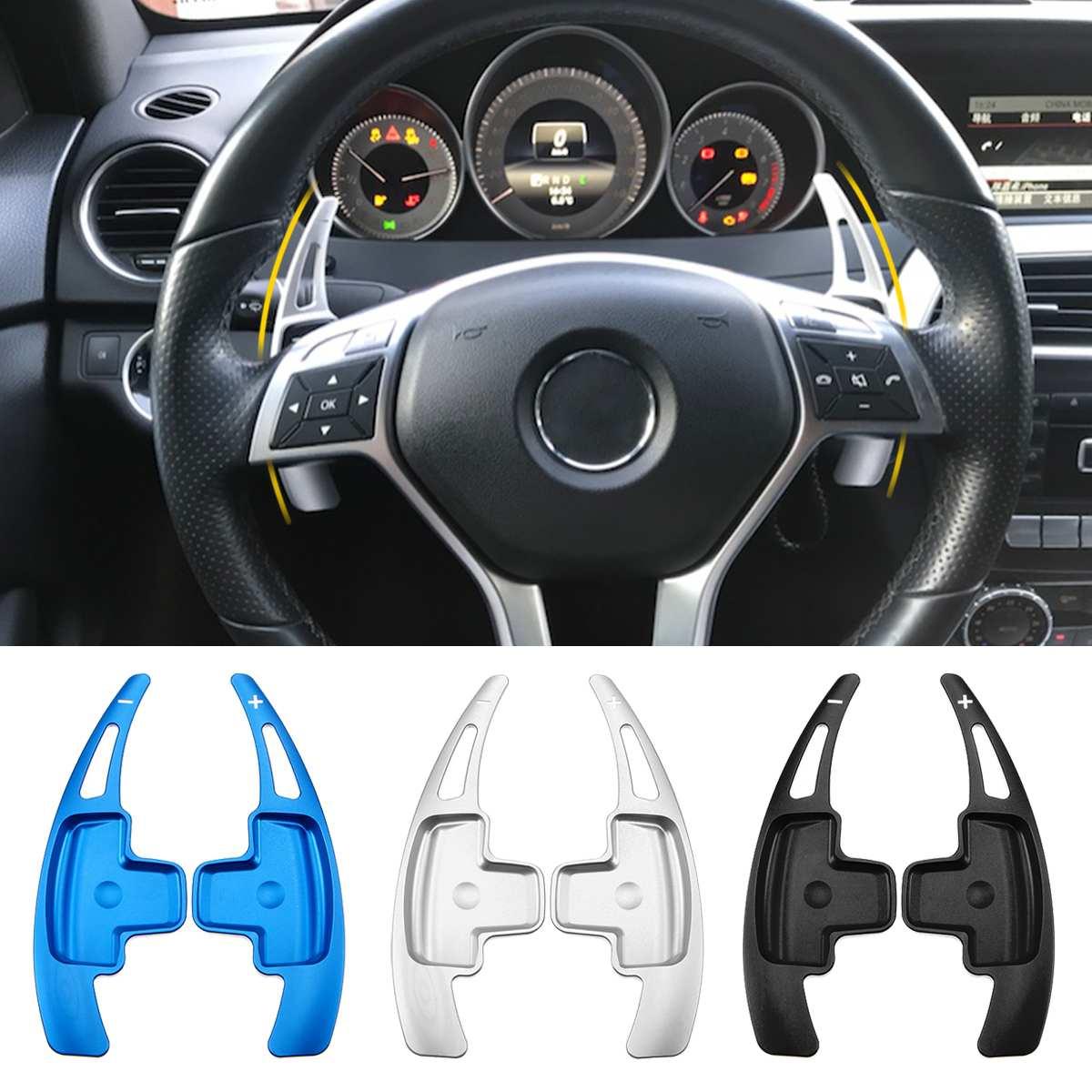 אלומיניום רכב הגה משוט Shift שיפטר הארכת לנץ W176 W205 W212 W222 W246 C117 W218 X156