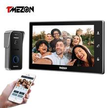 Tmezon 10 Inch Draadloze Wifi Smart Ip Video Deurbel Intercom Systeem, 1Xtouch Screen Monitor Met 1X720P Wired Deurtelefoon Camera