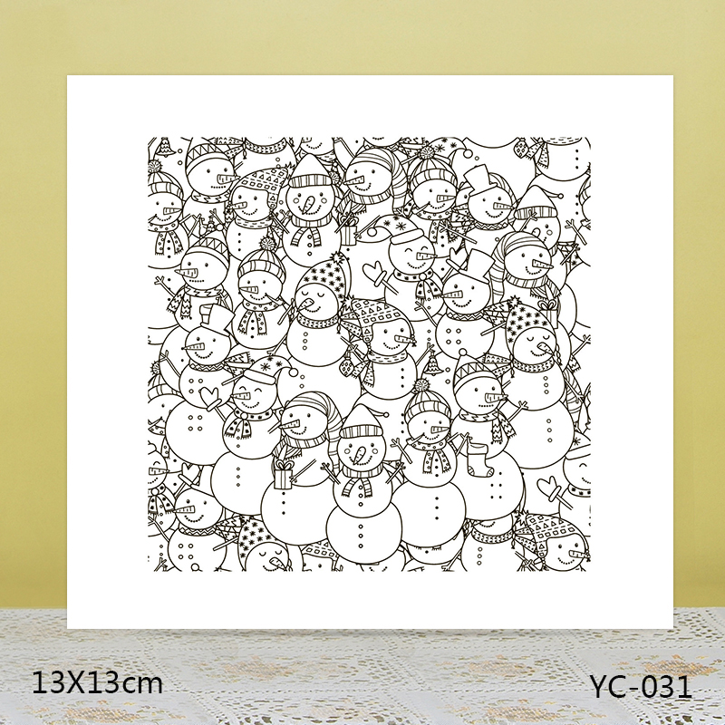 AZSG Snowman Clear Stamps/Stamp/For Scrapooking/Card Making/Silicone Stamps/Decoration Crafts