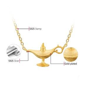 Image 5 - Lotus Spaß 18K Gold Aladdin der Lampe Anhänger Halskette Echt 925 Sterling Silber Natürliche Handgemachte Designer Edlen Schmuck für frauen
