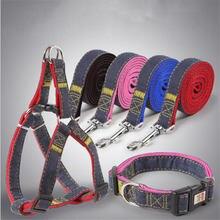 1 Pc Dog Collar Pet Leash Dogs Harness Teddy Husky Poodle Supplies Small Medium Large Adjustable