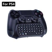 Kablosuz klavye için Sony Playstation 4 Mutilfunction 2 in 1 için Bluetooth Mini kablosuz Chatpad mesaj klavye PS4