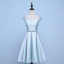 Vestido Azul Marino Wedding Party Dress Elegant Blue Bridesmaid