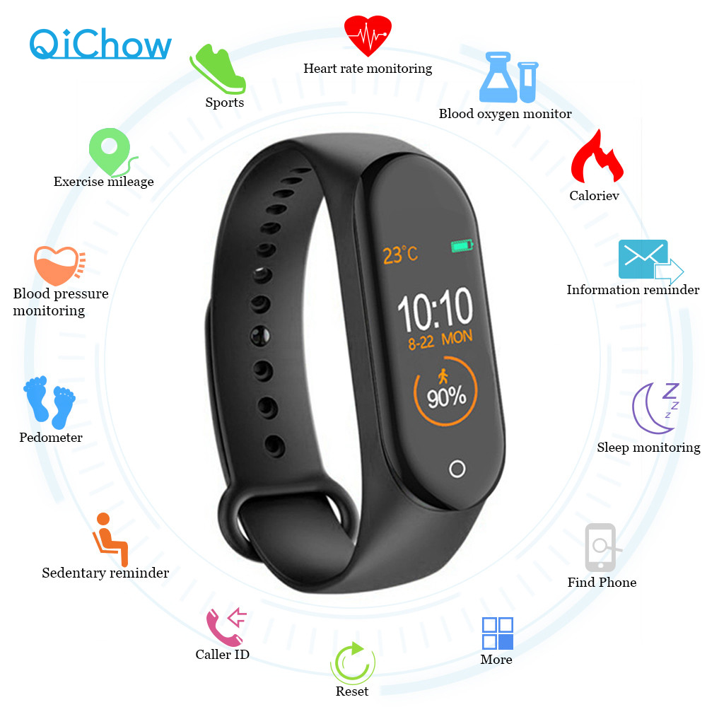 M4 Smart band christmas Fitness Tracker Watch Sport bracelet Heart Rate Blood smartwatch Monitor Health Wristband For Men Women