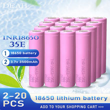 100% Original pour Samsung 18650 35E 3500mah INR1865035E 20A décharge Batteries au Lithium pour cigarette électronique batterie d'alimentation