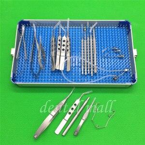 Image 4 - 21 sztuk/zestaw okulistyczna zaćmy oka mikro chirurgia instrumenty chirurgiczne z pudełkiem