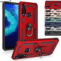 Ring Armor Case For Motorola Moto G8 Power Lite G7 G6 G Fast Power Stylus E E5 E6 Plus Play E6S One Pro Zoom Macro Hyper Action