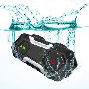 Image 3 - HEROBIKER Motorcycle Helmet Intercom Waterproof Wireless Bluetooth Intercom Motorcycle Headset Interphone For 3 Rides 1200M