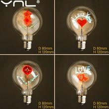 Ampoule Edison G80, 220V, flamand Rose de noël, lampes Vintage d'intérieur rétro à incandescence