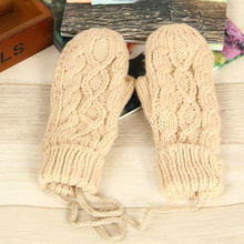 2019 New Women Winter Gloves Extra-Thick Without Fingers Warm Wool Mitt
