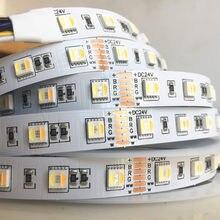 Cct conduziu a luz de tira dc12/24v 5 cores em 1 led rgbw 4 ln 1 5pin cor mista smd5050 cri95 navio livre 840lm