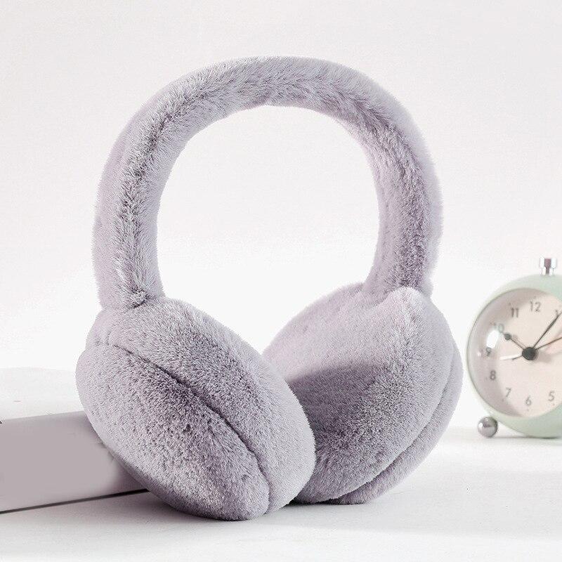 Hot Adjustable Winter Earmuffs Unisex Cute Warm Headphones New Fur Headphones For Girls Plush Ear Warmer Ear Cover Drop Shipping