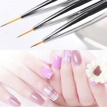 3pcs/set Nail Brushes Kit Women Nail Pai