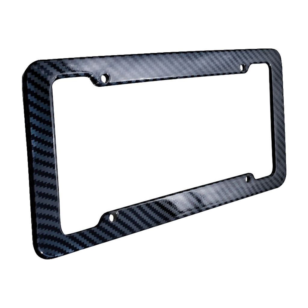 Car Carbon Fiber Style License Plate Frames Front & Rear Universal For Toyota Honda Ford Buick Chrysler Nissan Car Accessories Pakistan