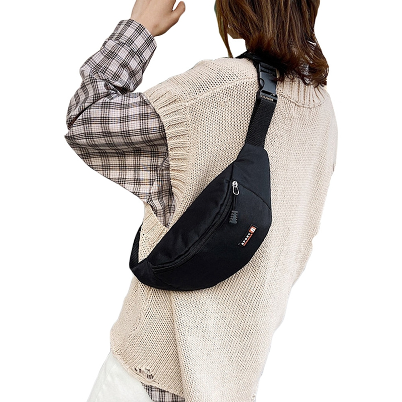 Unisex Large Capacity Waterproof Waist Bag Pouch Zipper Fanny Pack Sports Bags Casual Travel Belt Wallet Hiking Pouch 33x15x11cm