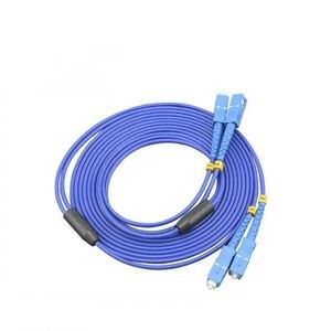 Image 3 - Sc/upc ao cabo de remendo ótico blindado do único modo do duplex do cabo de remendo da fibra do sc/upc