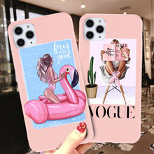 Lovebay Women Mom Baby For iPhone 11 Phone Case For iPhone 7 8 6 6s Plus X XR XS Max 11 Pro 5 5s SE Silicone TPU Soft Back Cover(China)