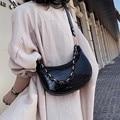 Women Simple Shoulder Underarm Bag Female Fashion Trendy Leather Handbag Lady Retro Messenger Crossbody Bags