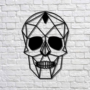 Metal Wall Art Skull Interior Decoration Home Decor Wall Hanging Home Decoration Wall Art 50x35 cm