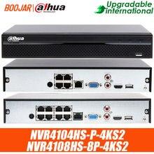 Dahua NVR4104HS-P-4KS2 4ch com 4 poe NVR4108HS-8P-4KS2 8ch com 8poe portas resolução 8mp h.265 4k gravador de vídeo em rede