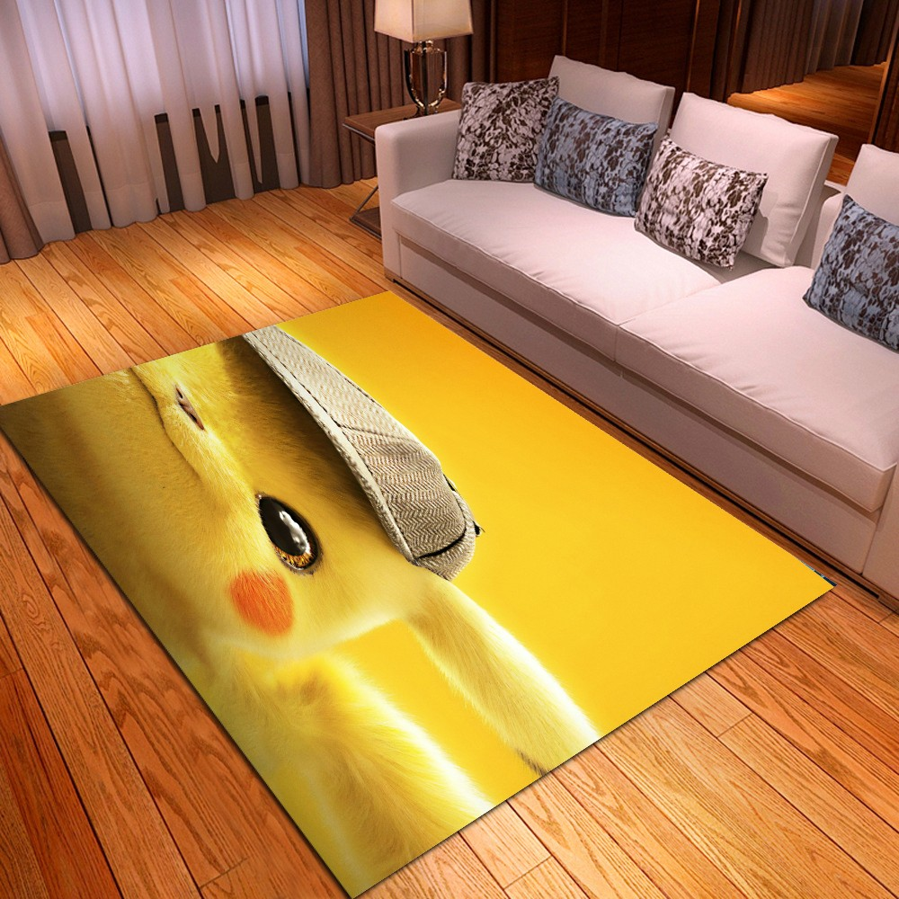 Pikachu Pokémon Anime Decor Floor Mats For Living Room Bedroom Entrance Doormats Non Slip Mat Cartoon Gifts Kitchen Area Rugs
