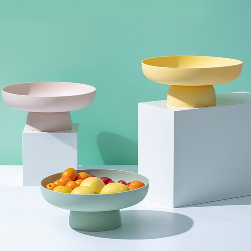 Round Candy Snack Tray Stand Fruit Picnic Food Dishes Pastry Box Cake Display
