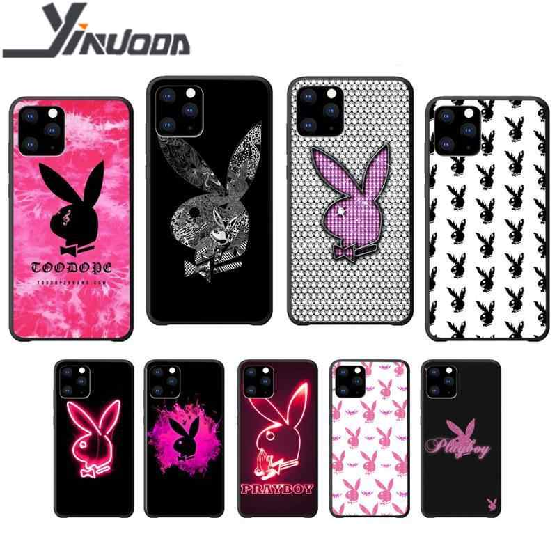 Motirunner Playboy 전화 케이스 coque for iphone 5s se 2020 6 6s 7 8 plus x xs max xr 11 pro max 실리콘 케이스 coque