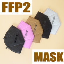 Multicolor FFP2 mask CE fpp2 mask 6-layer filter maske protective ffp2mask dust-proof health mask EU standard